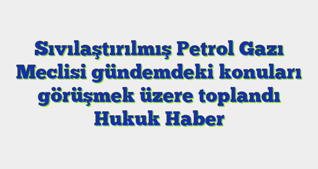 Sıvılaştırılmış Petrol Gazı Meclisi gündemdeki konuları görüşmek üzere toplandı  Hukuk Haber
